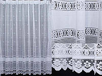 Тюль сетка высотой 2м, цвет белый. Код 362т, фото 1