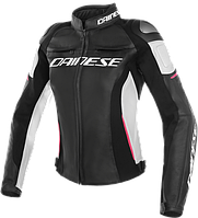 Мотокуртка женская Dainese Racing 3 Perforated Black White Pink 40