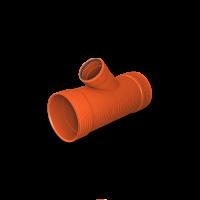 Тройник гофрированный ПП SN8 К2-Кан на ПВХ 400/160х45⁰