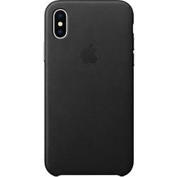 Кожаный чехол Apple Leather Case Black  для iPhone Xs Max