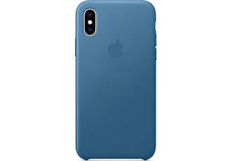 Кожаный чехол Apple Leather Case Cape Cod Blue  для iPhone Xs Max