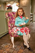 Детский пиджак для девочки Верхняя одежда для девочек Pezzo D'oro Италия S04K3005 Голубой 134
