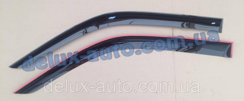 Ветровики Cobra Tuning длинные на авто Foton Ollin 2005 Дефлекторы окон Кобра ДЛИННЫЙ для DongFeng 1045 2007