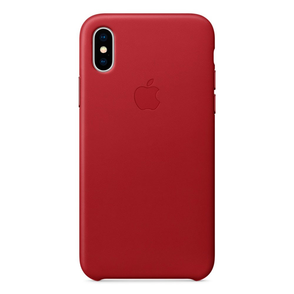 Шкіряний чохол Apple Leather Case (PRODUCT) RED для iiPhone Xs Max