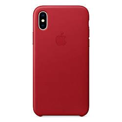 Кожаный чехол Apple Leather Case (PRODUCT) RED для iiPhone Xs Max