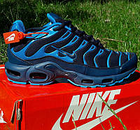 Кроссовки Мужские Nike Air Max Plus OG Синие Найк (размеры: 41,42,43,44) Видео Обзор