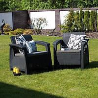 Набор садовой мебели Corfu Duo Set из искусственного ротанга