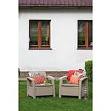 Набор садовой мебели Corfu Duo Set из искусственного ротанга ( Allibert by Keter ), фото 9