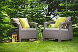 Набор садовой мебели Corfu Duo Set из искусственного ротанга ( Allibert by Keter ), фото 8