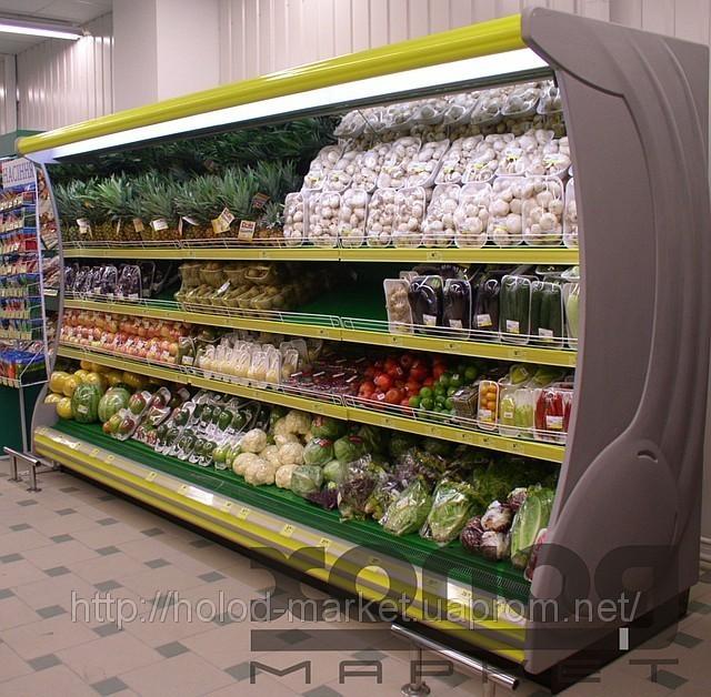 Пристенные витрины для фруктов и овощей - купить в Минске: цена
