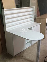 Складной маникюрный стол со стеллажом. Модель V431-745 белый, фото 1