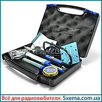 Паяльник с регулировкой температуры WEP 947-III в кейсе с набором, фото 1