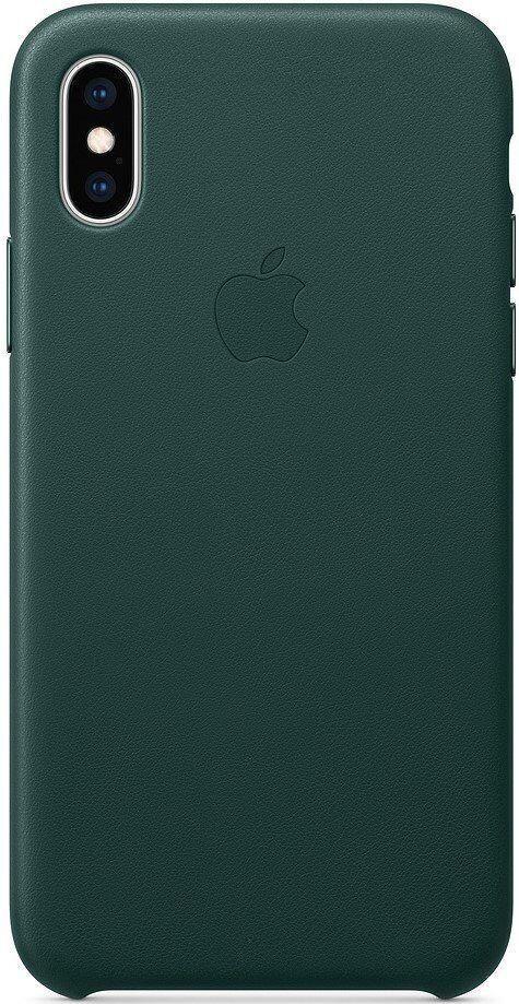 Кожаный чехол Apple Leather Case Forest Green для iPhone X/XS