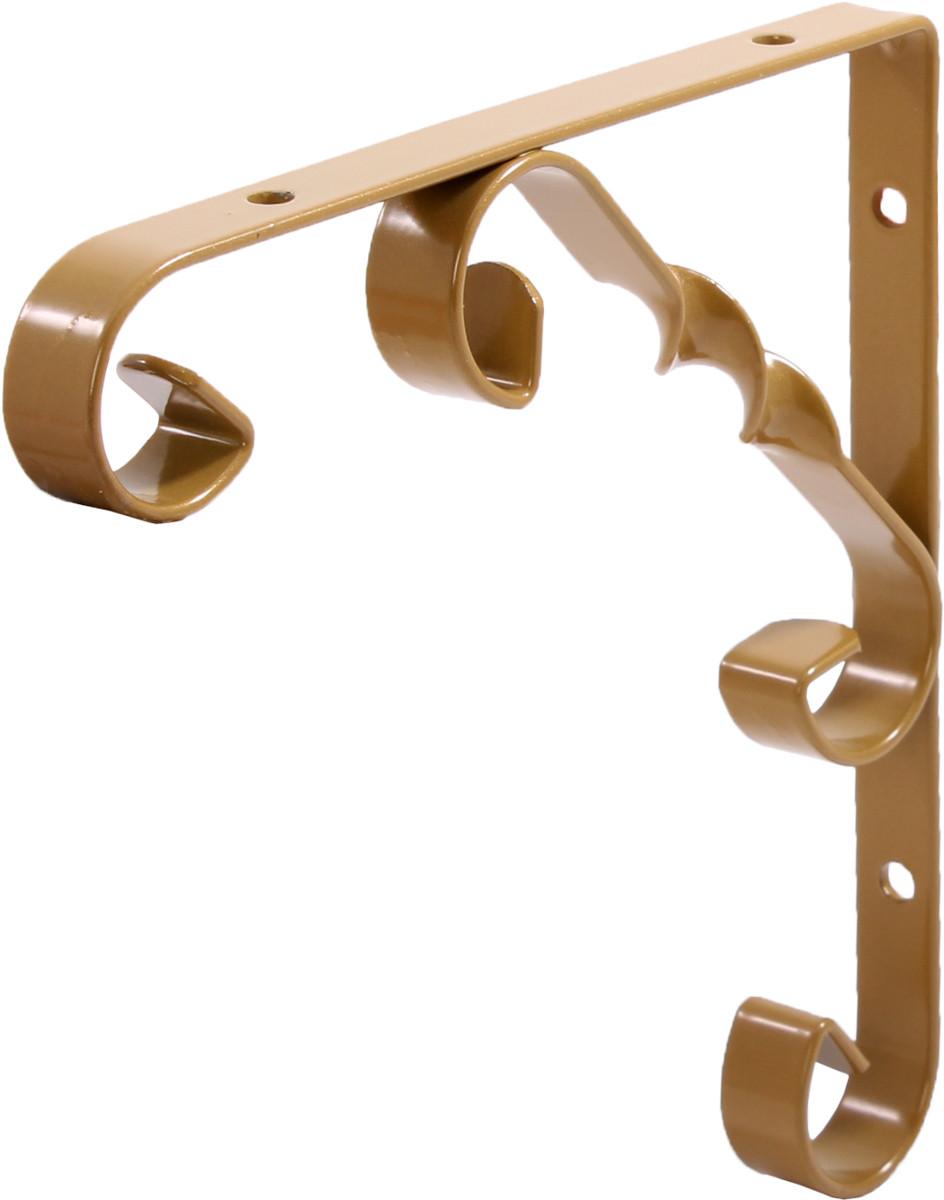 Декоративный кронштейн Орнаментал Larvij 200х13х200 мм Золото (L7408GO)