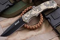 Нож складной с пластиковой рукояткой, клинок со слабо - вогнутыми спусками от середины клинка,практичный, фото 1