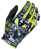 Мотоперчатки Oneal Matrix Attack Black Yellow M