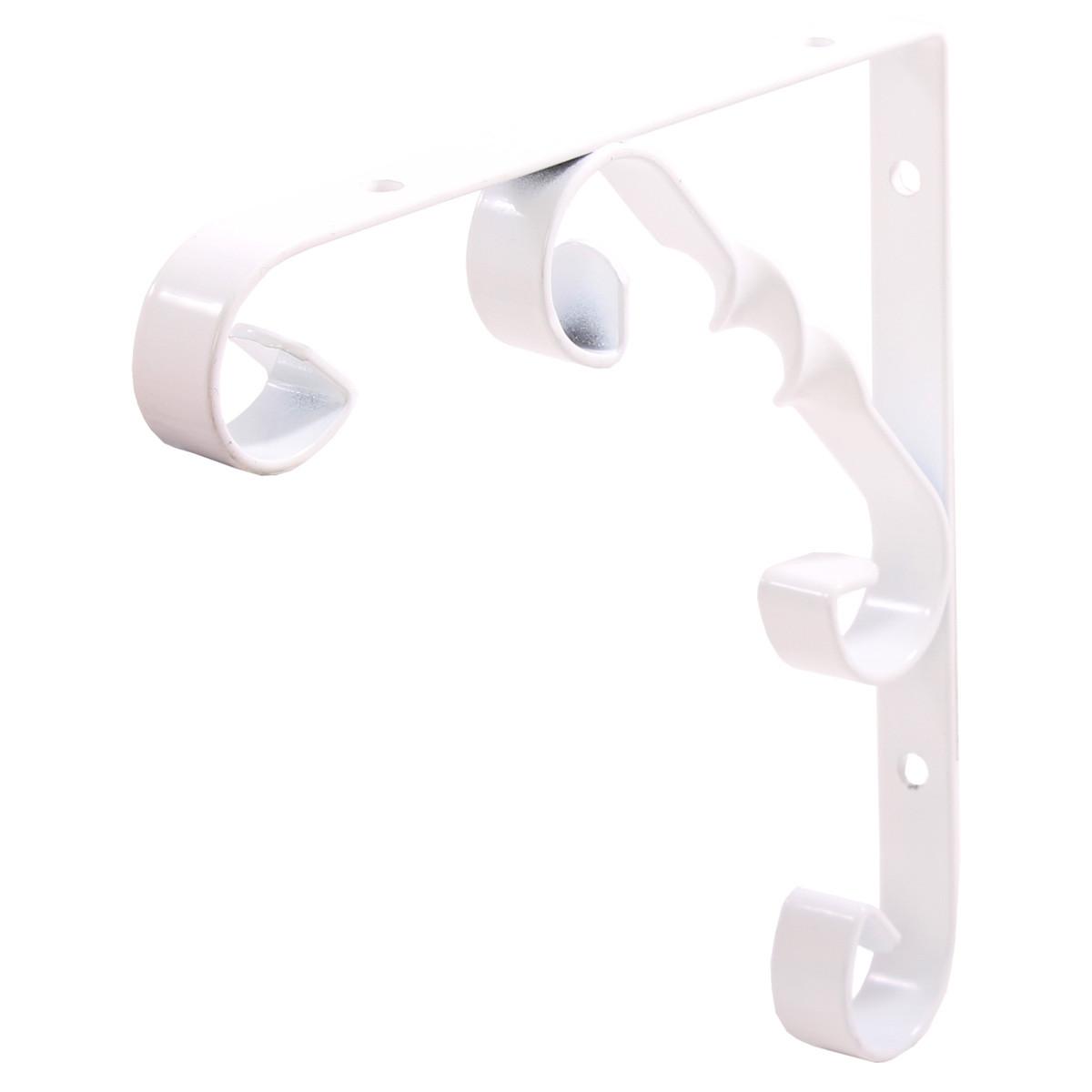 Декоративный кронштейн Орнаментал Larvij 100х13х100 мм Белый (L7404WH)