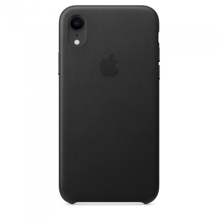 Шкіряний чохол Apple Leather Case Black для iPhone Xr (high copy)