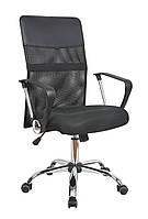 Кресло офисное Оливия D, сетка, хром, цвет черный