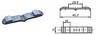 Контакт силовой подвижный к пускателю электромагнитному ПМА-5 медь в гальванопокрытии