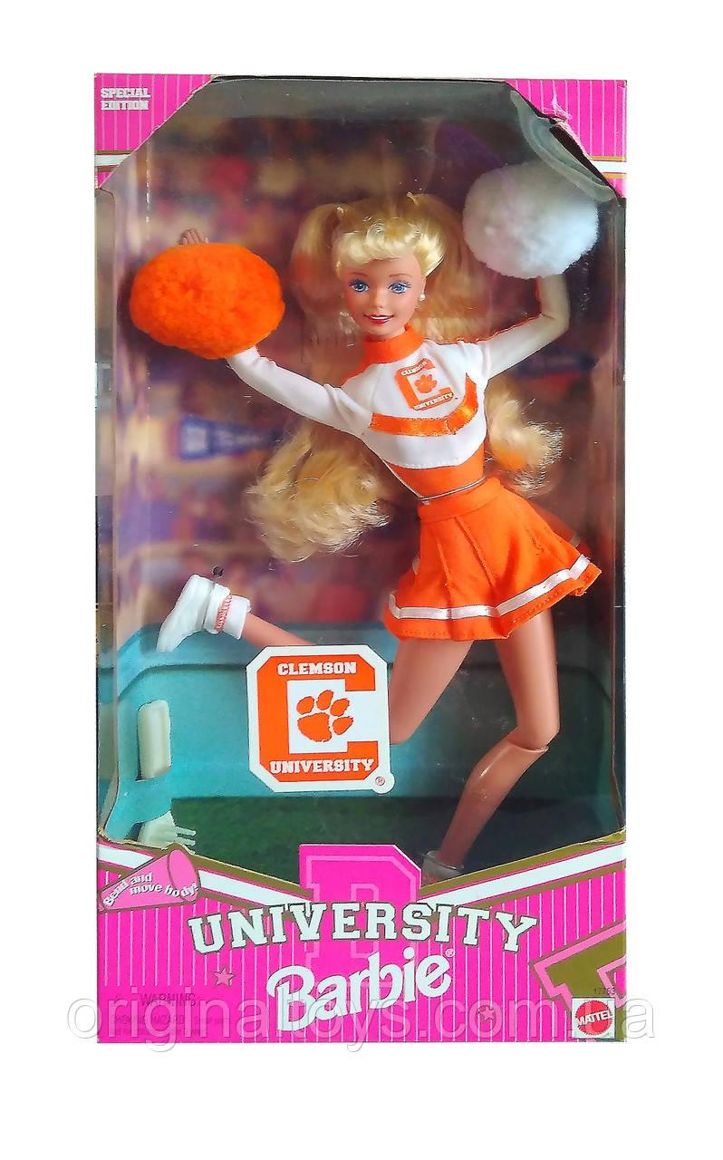 Коллекционная кукла Барби Черлидер Barbie Clemson University Cheerleader 1997 Mattel 17753