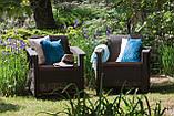 Набір садових меблів Corfu Set Duo Brown ( коричневий ) з штучного ротанга ( Allibert by Keter ), фото 6