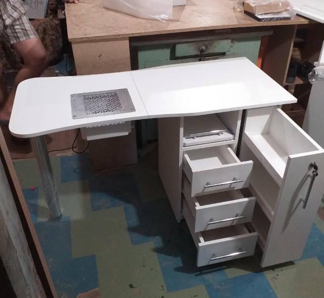 маникюрный стол V457 с мощной вытяжкой Teri Turbo для Юлии
