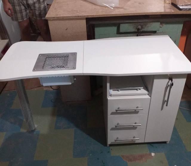 Изготовление Складного маникюрного стола V457 с мощной вытяжкой Teri Turbo для Юлии