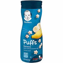 Первые печеньки для малышей Puffs от Gerber Банан