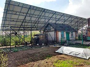 Ферма с установленными панелями (тыльная сторона).