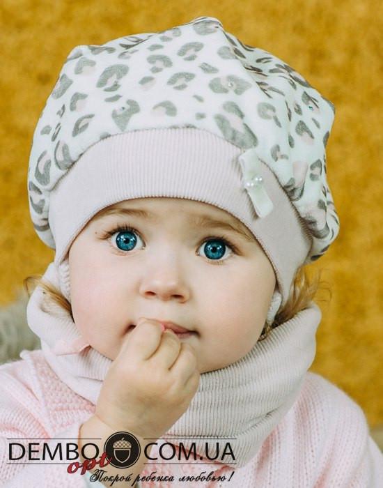Детская шапка (набор) для девочек ЛАМА оптом размер 46-46-48-48