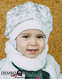 Детская шапка (набор) для девочек ЛАМА оптом размер 46-46-48-48, фото 2
