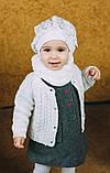 Детская шапка (набор) для девочек ЛАМА оптом размер 46-46-48-48, фото 3