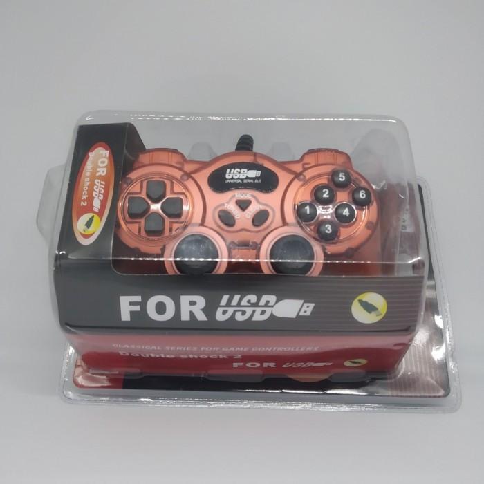 Игровой манипулятор TURBO USB GAMEPAD DJ-168 джойстик для ПК Бордовый ( 88288 )