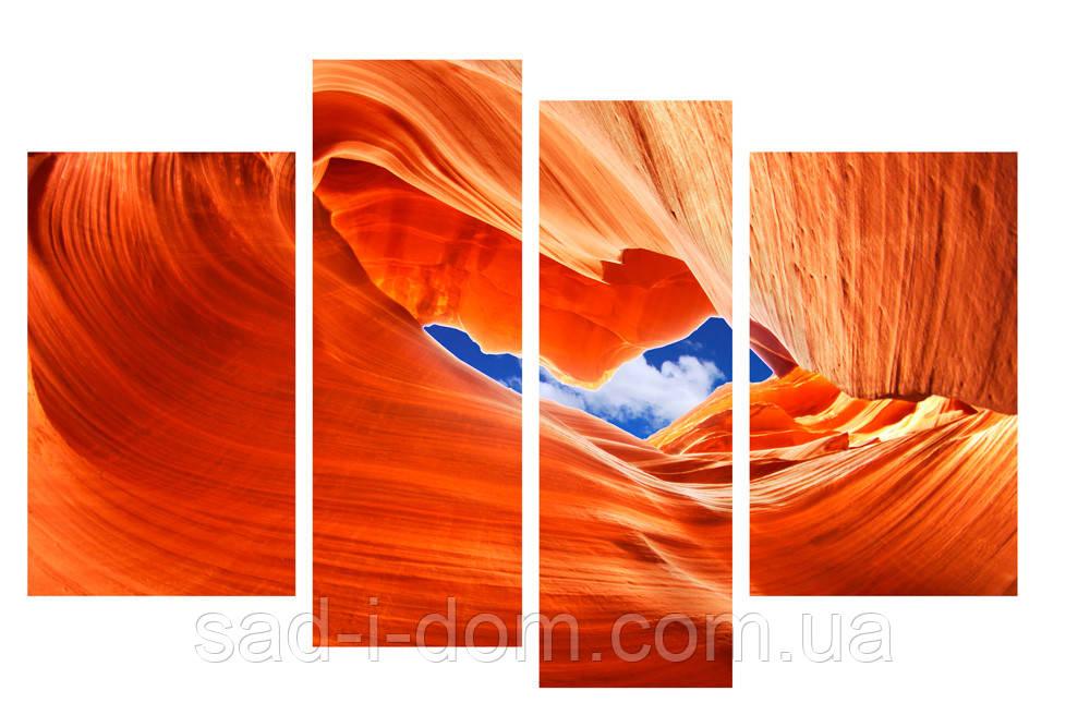 Модульная картина Декор Карпаты 110х70 см (M4-p399)