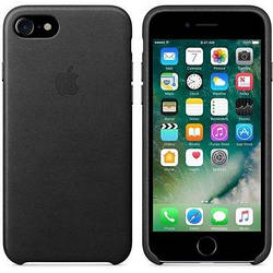 Шкіряний чохол Apple Leather Case Black для iPhone 7 / 8 (high copy)