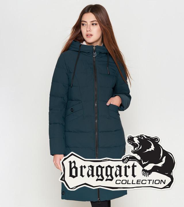 Braggart Youth   Женская теплая куртка 25245 бирюза