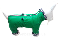 Зеленый зимний комбинезон для собак DogsBomba