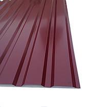 Профнастил  для забора, цвет:вишневый ПС-20, толщина 0,30 мм; высота 1.5 метра ширина 1,16 м, фото 2