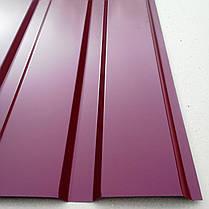 Профнастил вишневый ПС-20, толщина 0,30 мм; высота 1.5 метра ширина 1,16 м, фото 2
