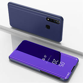 Чехол книжка для Vivo Z1 Pro боковой с зеркальной крышкой, Smart Cover, фиолетовый
