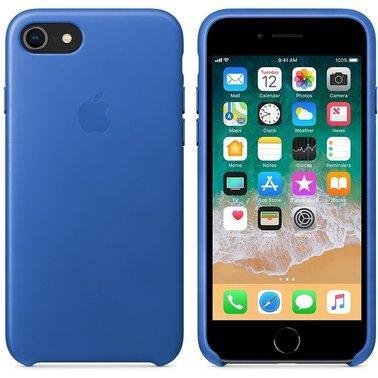 Шкіряний чохол Apple Leather Case Electric Blue для iPhone 7 / 8 (high copy)