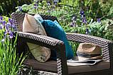 Набір садових меблів Corfu Set Duo Brown ( коричневий ) з штучного ротанга ( Allibert by Keter ), фото 9