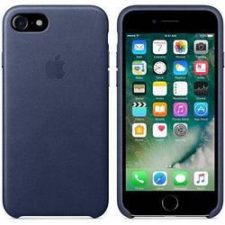 Кожаный чехол Apple Leather Case Midnight Blue для iPhone 7 / 8 (high copy)