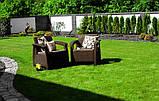 Набір садових меблів Corfu Set Duo Brown ( коричневий ) з штучного ротанга ( Allibert by Keter ), фото 8