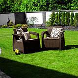 Набір садових меблів Corfu Set Duo Brown ( коричневий ) з штучного ротанга ( Allibert by Keter ), фото 10