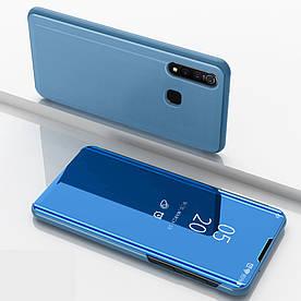 Чехол книжка для Vivo Z1 Pro боковой с зеркальной крышкой, Smart Cover, голубой