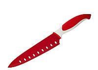 88666 Нож поварской, красный Granchio (20,3 см)