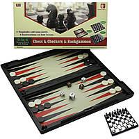 Игровой набор магнитный 3 в1 (Шахматы,шашки,нарды)(32х32х2 см) ( 19312)