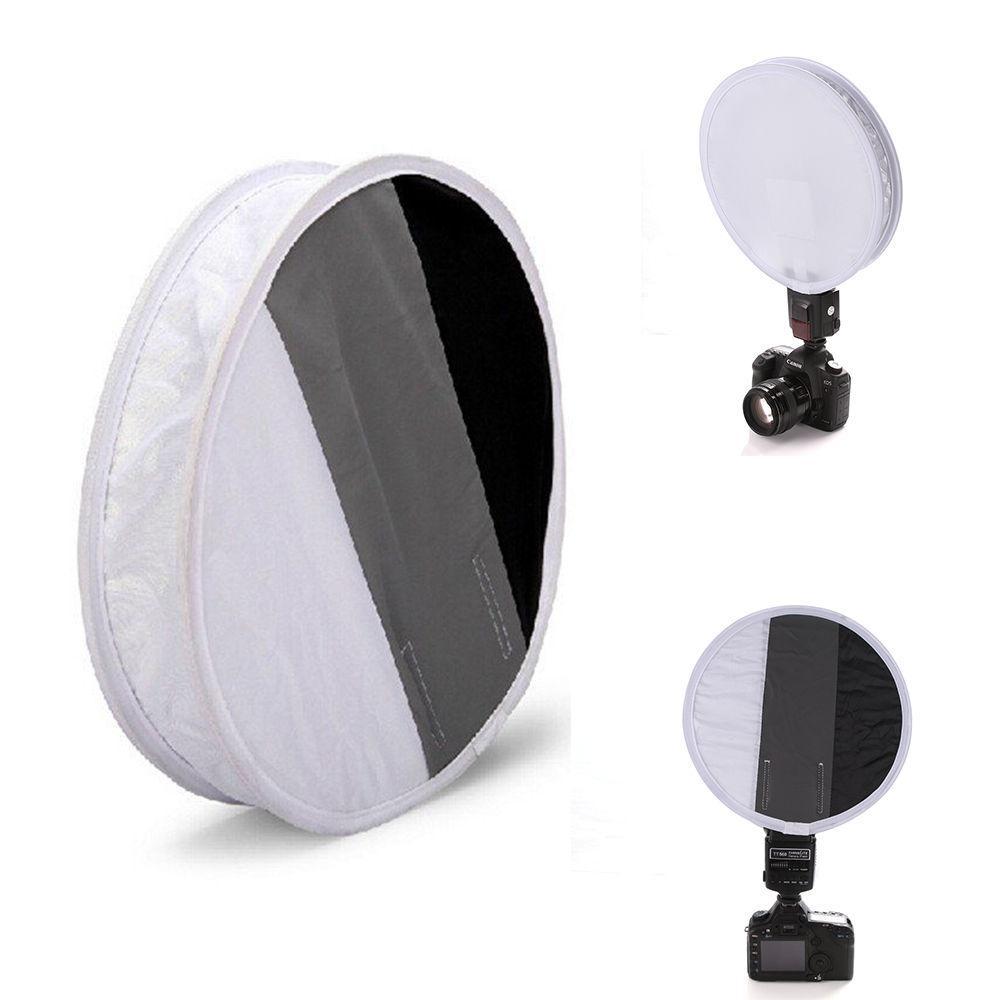 Софтбокс для вспышки круглый 30 см с экспомишенью баланса белого